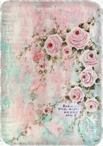 Immagini Shabby Chic.Details About Furniture Decal Image Transfer Vintage Art Musical Rose Label Shabby Chic Diy