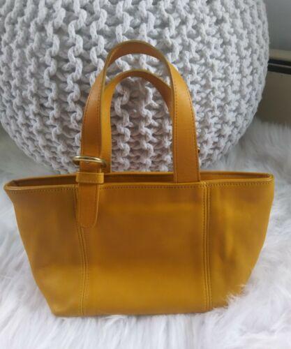 vintage coach mini tote saffron yellow