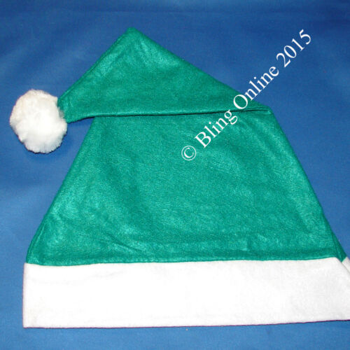 Dimensioni da adulto Babbo Natale Babbo Natale Cappello Rosso Blu Nero Verde Natale Elf Pompon FELTRO