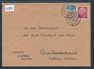 Brief 1955 25584 Landpost Ra2 16 Zell über Fulda