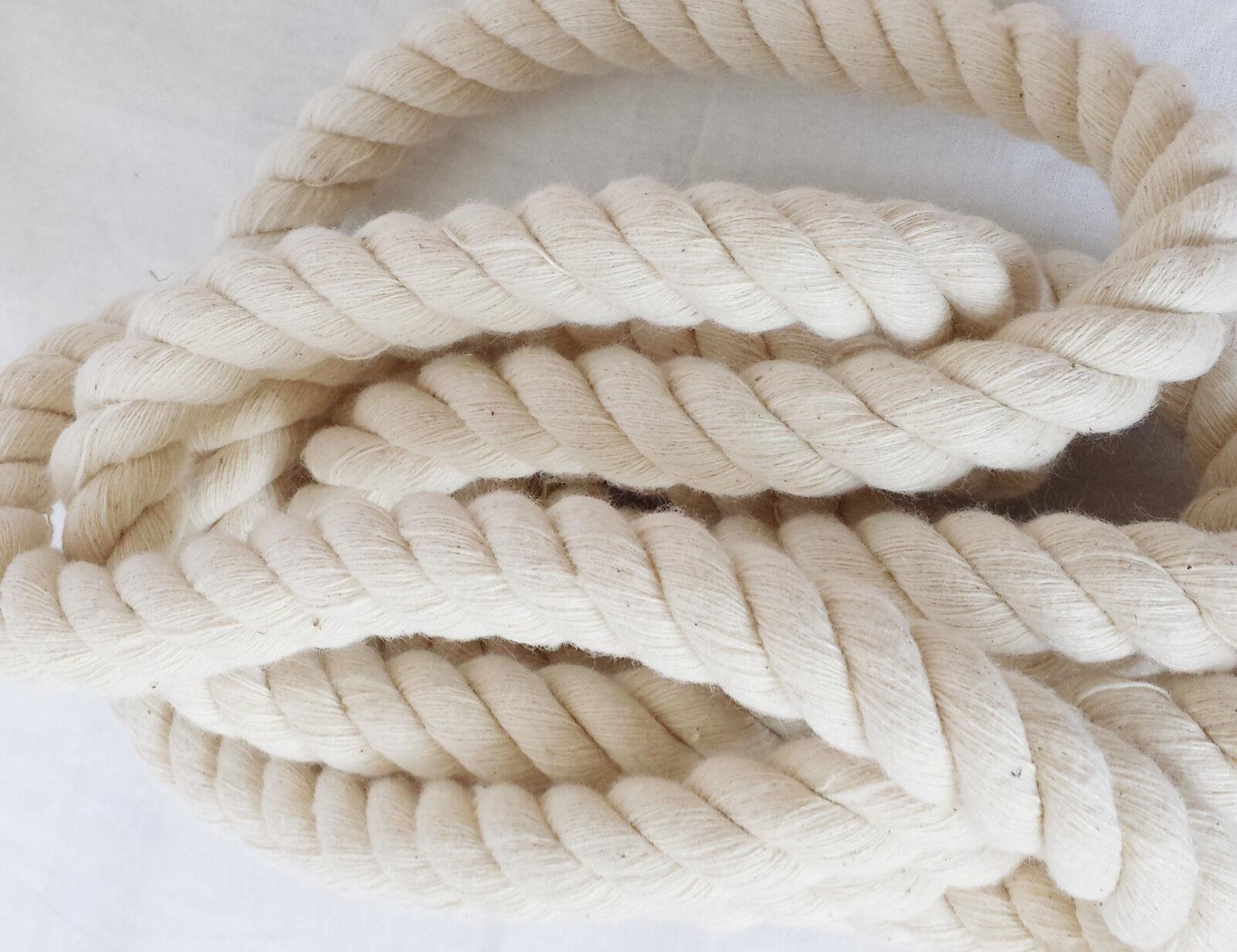 18mm Natürlich 100% Baumwolle Verdreht Gewichtsschnur Gewichtsschnur Gewichtsschnur Kratzer Fischer Schlingen bf8b98