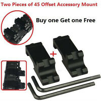 45 Degree Offset Angle Side Rail Mount Weaver Picatinny For Laser And Flashlight