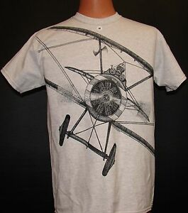 Sopwith-Camel-WW1-Airplane-T-shirt-with-HUGE-imprint-on-front-and-back