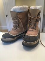 Lækre og varme dame vinterstøvler Læder og lammeskind