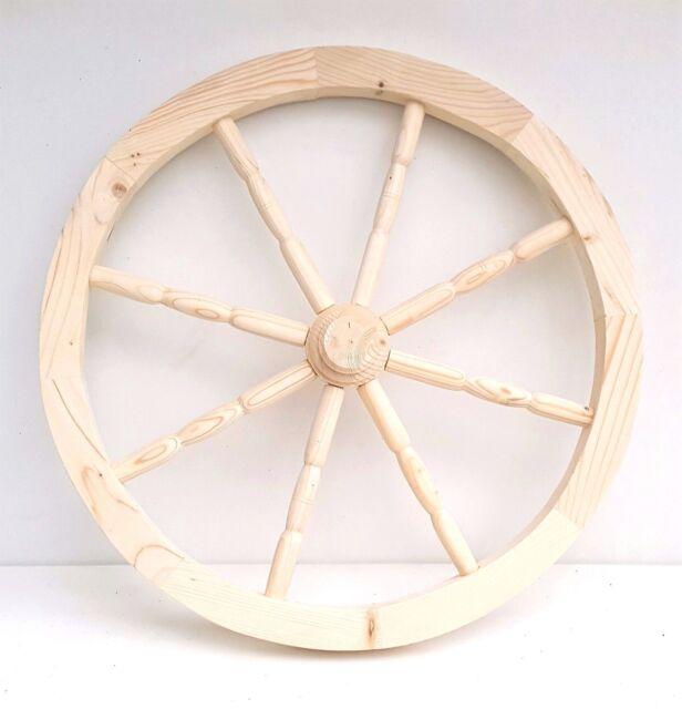 Wooden Cart Wheel Ornamental Wood Cart Wagon Wheels 49cm Home Garden  Decoration