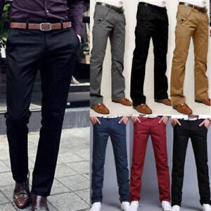 women exclusive deals women Men's Formal Business Trousers Chinos Slacks Slim Fit Jeans ...