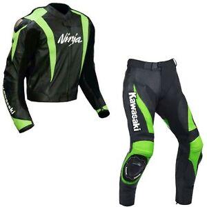 Combinaison-de-Moto-en-Cuir-Hommes-Courses-Moto-en-Cuir-Veste-Pantalon-EU-52-60