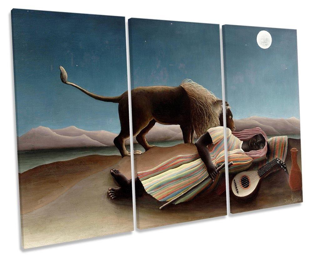 Henri ROUSSEAU zingara addormentata immagini TREBLE TELA Wall Art Print
