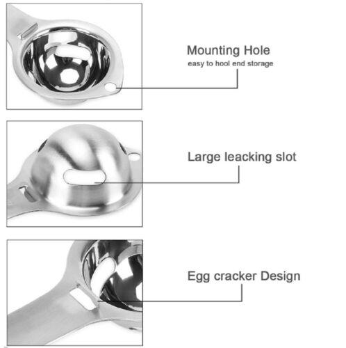 Convenient Egg Yolk White Separator Divider Holder Sieve Kitchen Tool Gadget
