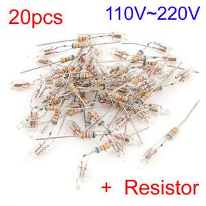 20Pcs-5x13mm-Head-Red-Orange-Light-Neon-Bulb-Indicator-Lamp-100V-220V-Resistor