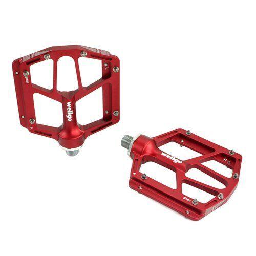 Wellgo B181 Rojo pedales de bajo perfil plano diseño, Rojo B181 daeace