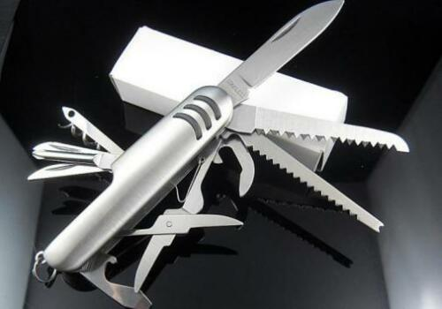 Multi Function 11 Features Stainless Steel Boys Party Favor 15 Pocket Knives