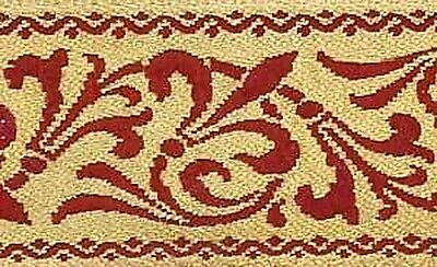 Jacquard Trim. Antique Reproduction. Fleur De Lis