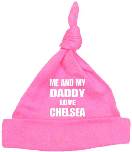 BabyPrem Baby Clothes Me Dad Love Chelsea Cotton Knotted Hat NB 12 Months