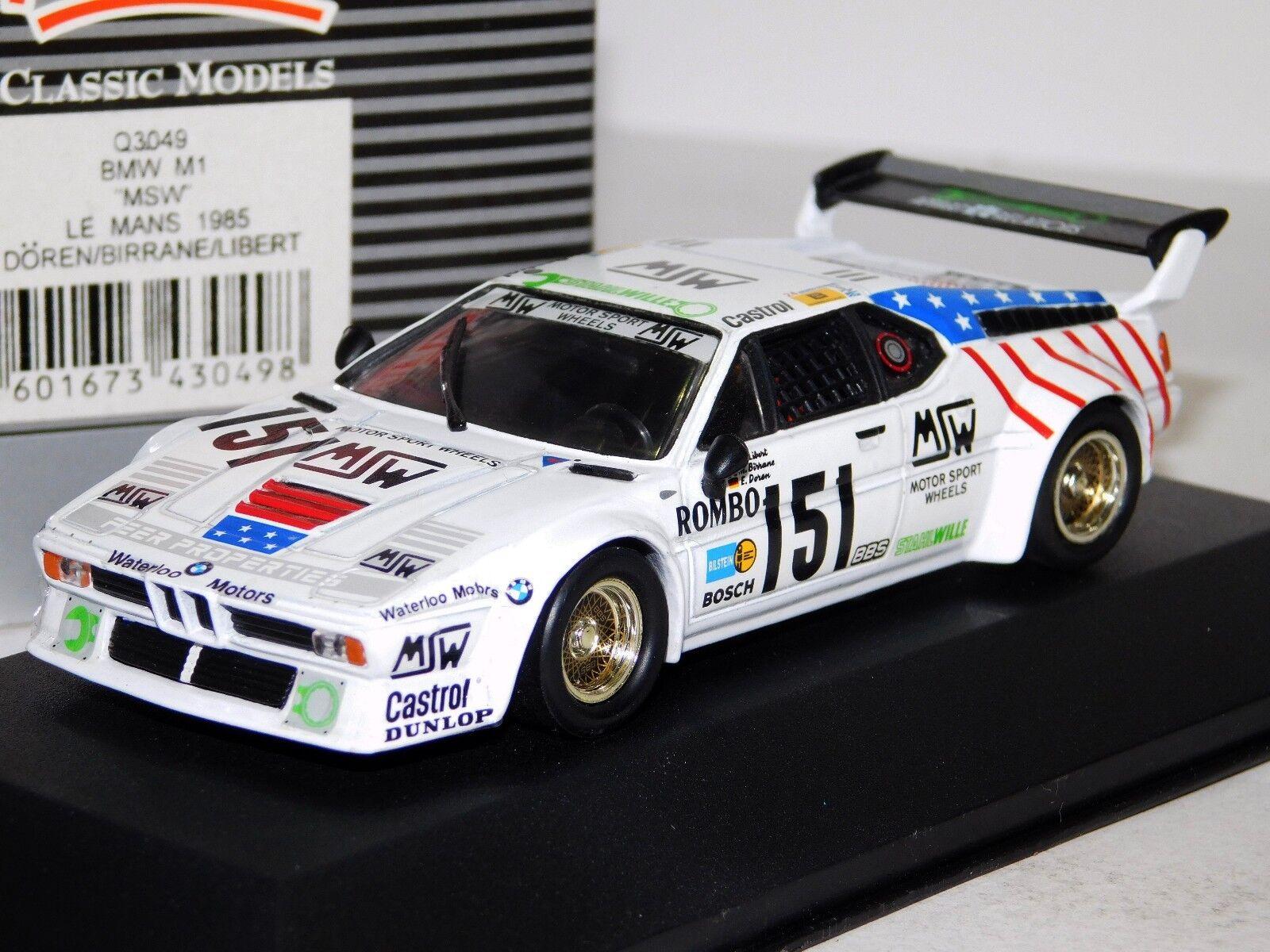 BMW M1 MSW LE MANS 1985 QUARTZO Q3049 Q3049 Q3049 1 43 785e07