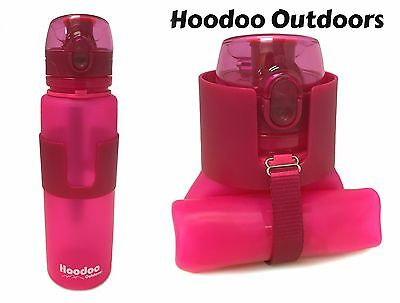 Pop Top 22 Ounce Gray Hoodoo Outdoors Collapsible Water Bottle BPA Free