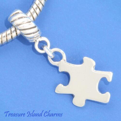 Jigsaw Puzzle Autisme .925 Solide Argent Sterling Européen Euro Dangle Bead Charm