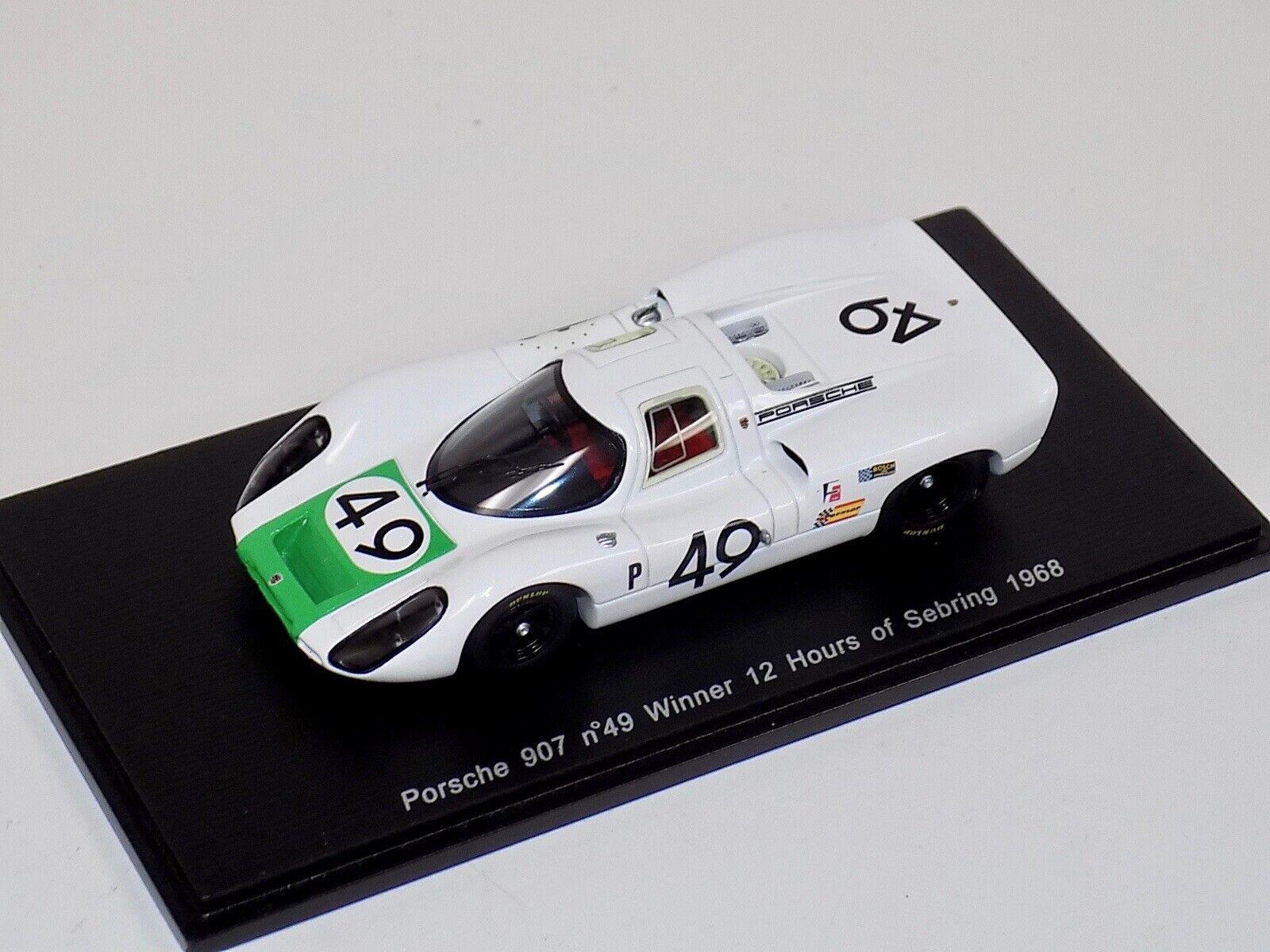 1 43 Spark Spark Spark Porsche 907 Car Winner of  24 H of Sebring 1968  S4161 599dba