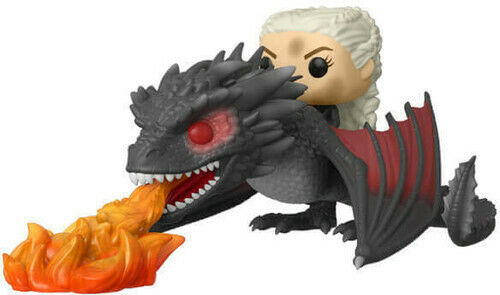 Game Of Thrones - Daenerys On Fiery Drogon - Funko Pop! Rides: (Toy New)
