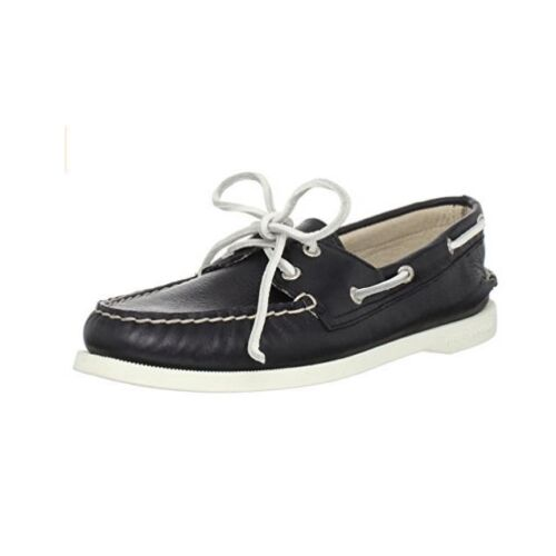 Sperry Top-Sider 9294273 Women's A/O Supersoft Leather Boat Shoes Black