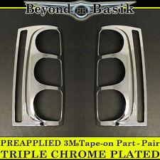 2007-2014 GMC YUKON Triple Chrome Tail Light TailLight Bezel Covers Overlays cap