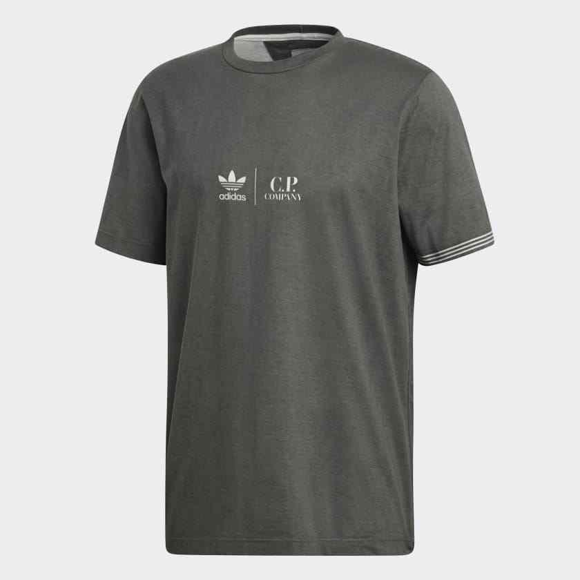 Adidas Originals CP Company T-Shirt Grey Granite White XL Extra Large Tee