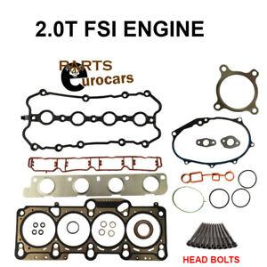 Cylinder Head Gasket Set W Bolts Audi A4 2 0t Vw Passat 2 0t Fsi Belt Engines Ebay