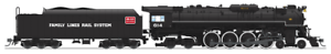 Broadway Limited 4908 C&O J3a 4-8-4, Excursion Service, Brass, HO