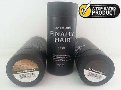 Keratin Hair Building Fiber SALT & PEPPER, GREY & PEPPER Hair Loss Concealer