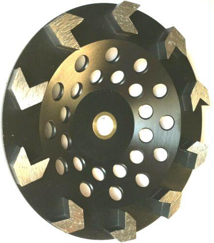 "7/"" Arrow Segment Diamond Cup wheel Concrete Epoxy Mastic Grinding 5//8/""-7//8/""-BEST"