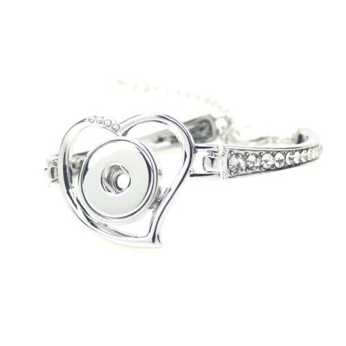 Femme Nouveau Bracelet Jonc Drill Snap Fit For 18 Mm Noosa Chunk Charm Bouton S10