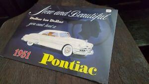PONTIAC-1951-Placa-metalica-litografiada-ANUNCIO-publicidad-38x28-cm-replica