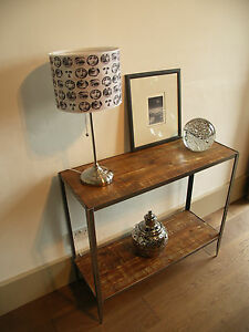 Industrial-style-console-table
