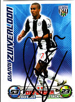 West Bromwic Albion F.C Zuiverloon Hand Signed 08/09 Championship Match Attax.