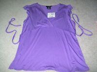 George Stretch Misses Size M 8/10 Purple Shirt