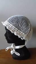 Adorable French Antique Handmade Open Work Lace Ladies Boudoir Bonnet