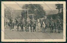 Firenze Città Equitazione Militari cartolina QQ2159