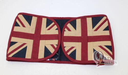 Vintage Union Jack Double Oven GlovesLayered CottonHeat ResistingFlag