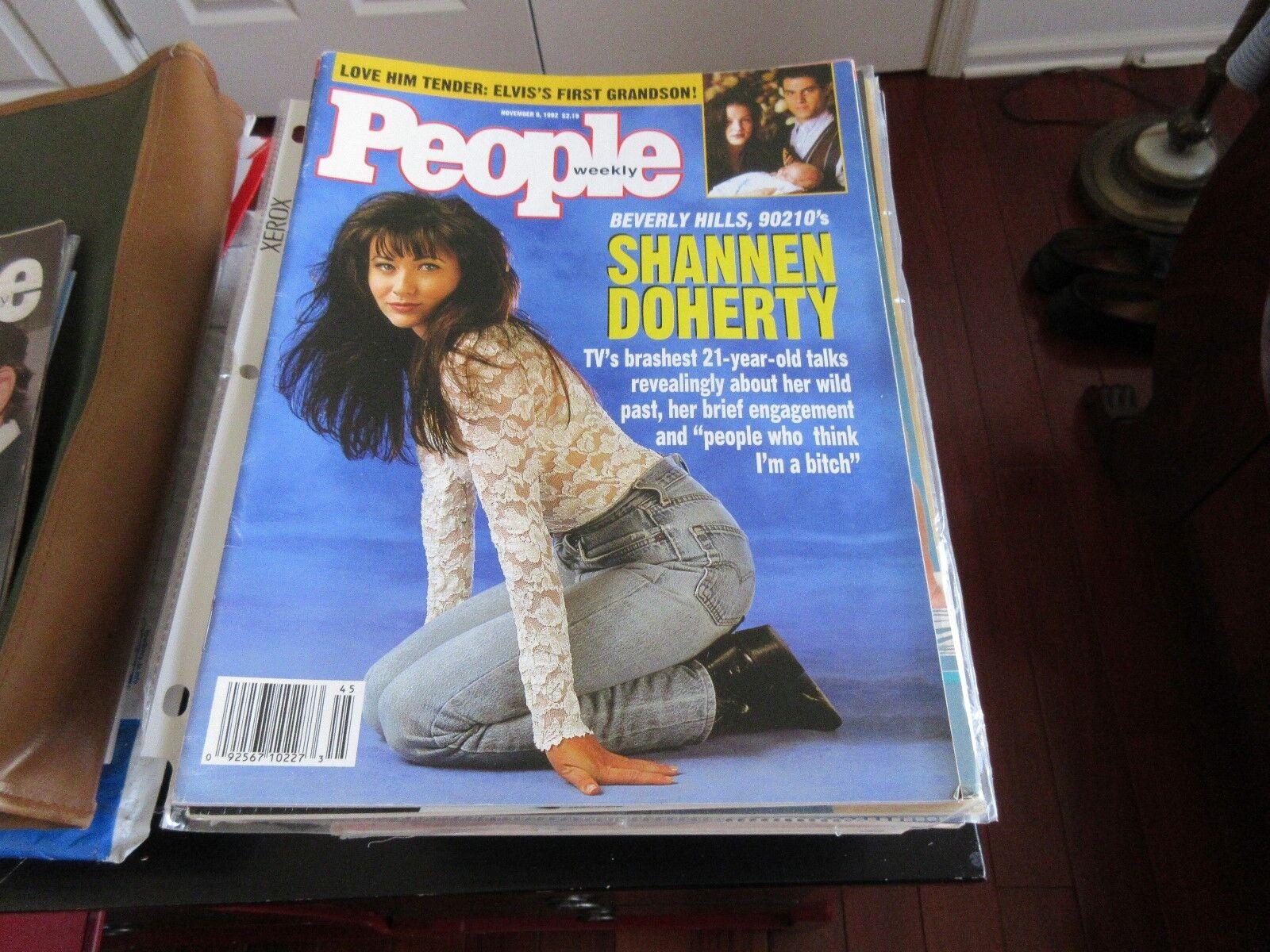 Shannen Doherty , People Magazine , 11/9/92 , Elvis