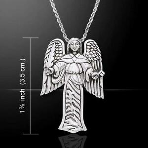 Sigil of Archangel Uriel Sterling Silver Pendant by Peter Stone Fine Jewelry