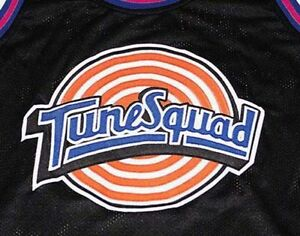CUSTOM TUNE SQUAD SPACE JAM MOVIE BASKETBALL JERSEY BLACK NEW ANY ... 101c627a5