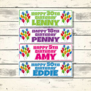 2-PERSONALISED-BALLOON-BIRTHDAY-PARTY-BANNERS-DECORATIONS-ANY-NAME-ANY-AGE