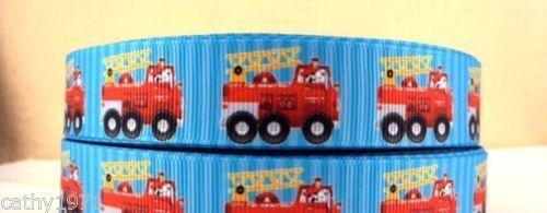 U Choose Firetruck Grossgrain Ribbon 22mm 1M,2M,3M,4M or 5M