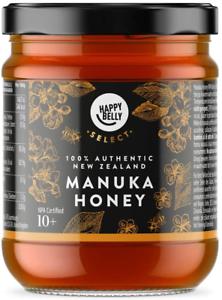 Happy Belly Select New Zealand Manuka Honey 100% Authentic 10+, 340gr - MGO 261