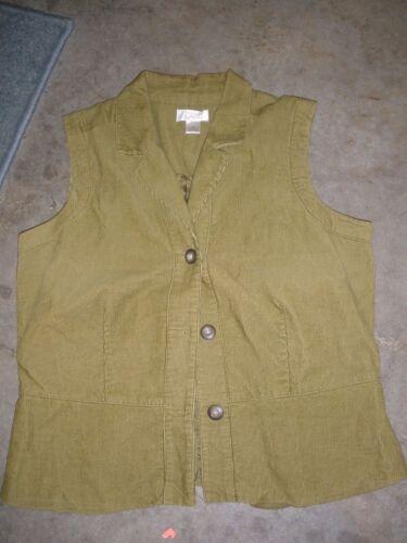 Christopher and Banks women's corduroy vest Medium