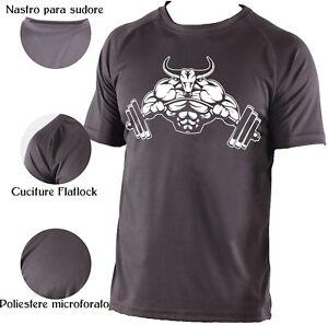Maglietta Tecnica Toro Bodybuilding t-shirt poliestere microforato