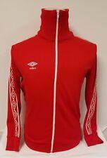 VTG OG UMBRO Track Jacket Red White Retro 70s 80s Track Soccer suit Small Medium