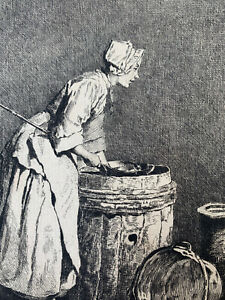 Chardin engraving water strong etching the ecureuse