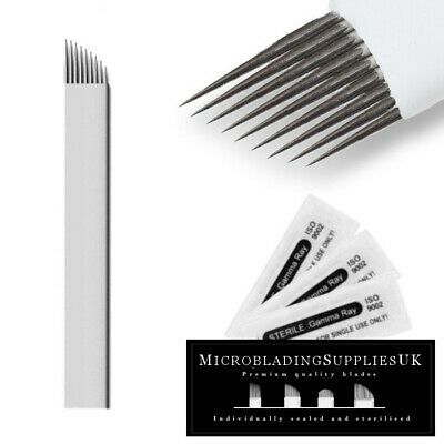 Microblading Blades Microblades Needles Eyebrow Tattoo Makeup Disposable 9cf Tattoo Needles, Grips & Tips Health & Beauty
