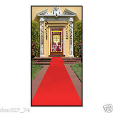 """HOLLYWOOD Movie Night Awards Party Prop """"RED CARPET"""" Floor RUNNER 2 ft x 15ft"""